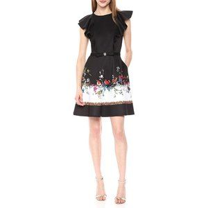 Ted Baker Shaelin Opulent Fauna Fit Flare Dress 10